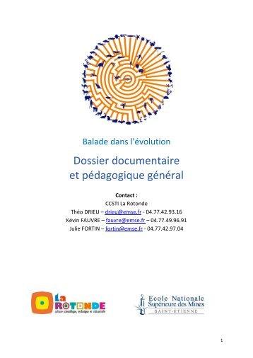 Dossier documentaire et pédagogique général - CCSTI La Rotonde