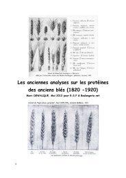 Les anciennes analyses sur les protéines des anciens blés (1820 ...