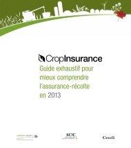Votre Guide exhaustif pour mieux comprend l'assurance-récolte en ...