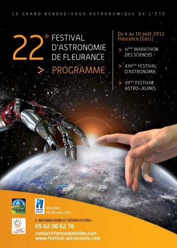PROGRAMME - Festival d'astronomie de Fleurance