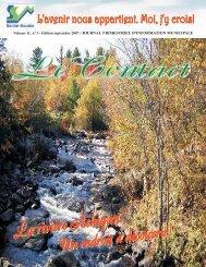Le Contact - Septembre 2007 - Municipalité de Sainte-Sophie