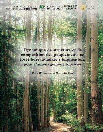 Dynamique de structure et de composition des peuplements en forêt ...