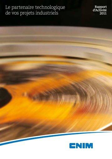 Rapport d'activité 2011 - Cnim.com