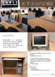 Table informatique - Mobilier informatique