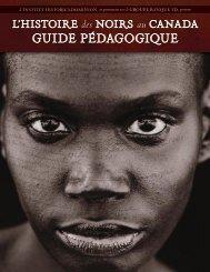 GUIDE PÉDAGOGIQUE - Histoire des Noirs au Canada