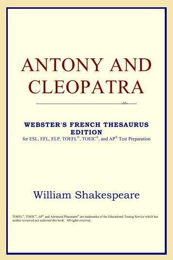 antony and cleopatra essay help