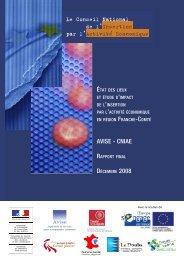 AVISE - CNIAE Rapport final - Conseil Régional de Franche-Comté