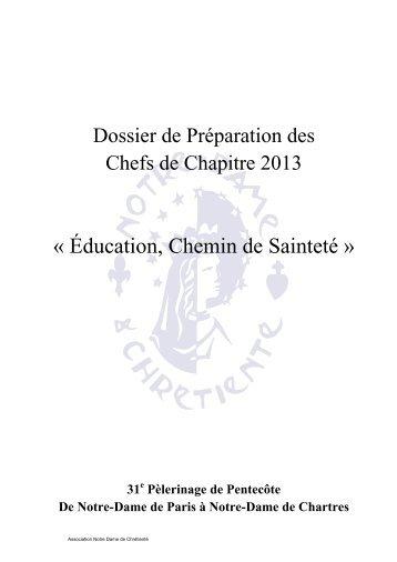 31 18-19-20 mai 2013 Dossier - Education, chemin de sainteté