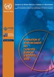 Rapport d'activités 2005-2006 - TrainForTrade - Unctad