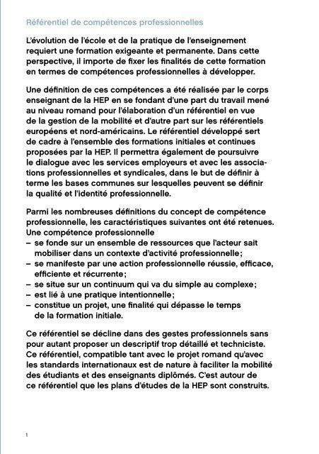 Formation des enseignants Référentiel de compétences ...