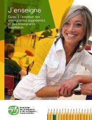 J'enseigne – Guide à l'intention des enseignantes suppléantes et ...