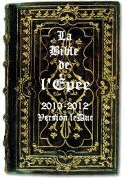 BIBLE DE L'ÉPÉE 2010 - ChristoBible - le Vigilant