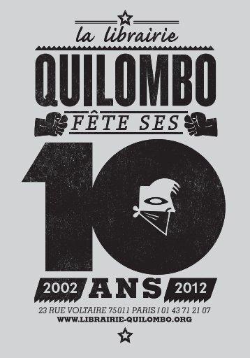 Catalogue 2013 - Quilombo Boutique-Librairie