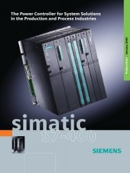 SIMATIC S7-400 - The Power Controller for System ... - Jonweb FA