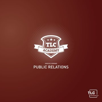 Flyer Seminar Public Relations - tlc communications GmbH & Co. KG