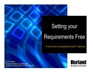 Setting your Requirements Free - RECONF 2005