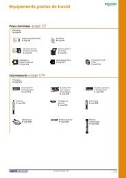 Equipements postes de travail - e-Catalogue - Schneider Electric