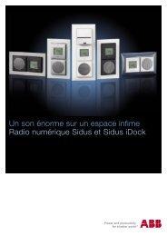 Radio numérique Sidus et Sidus iDock - ABB Schweiz AG ...