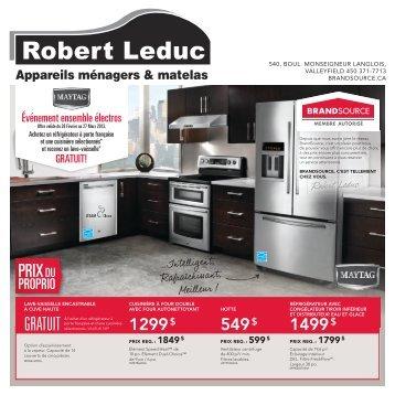 GRATUIT - Appareils Ménagers Robert Leduc