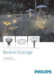 Barème Eclairage - 1 Fevrier 2012 - Philips Lighting