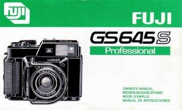 Télécharger le mode d'emploi du Fuji G645S - Galerie-photo.com