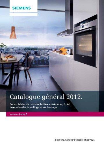 Catalogue général 2012. - Siemens - Plans de travail Netovia