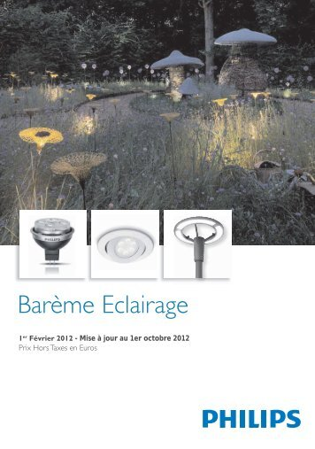 Barème Eclairage 2012 - Philips Lighting