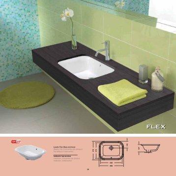29 Lavabo Flex (Bajo-encimera) Vasque Flex (à encastrer par ...