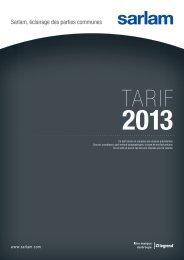 Télécharger le tarif public en PDF - Sarlam