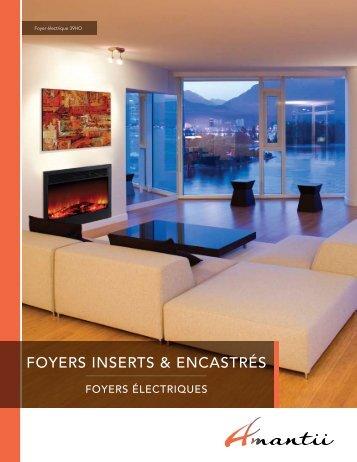 FOYERS INSERTS & ENCASTRÉS - Amantii fireplaces