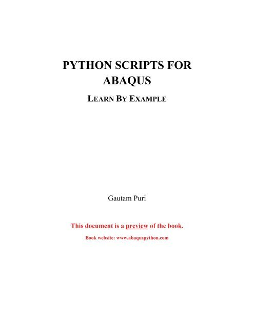 Python scripts for Abaqus pdf - About