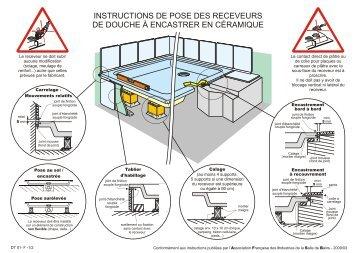 Instructions de pose des receveurs de douche en acrylique - Pose receveur douche acrylique ...