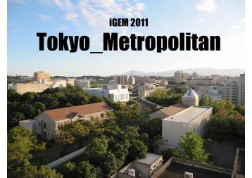 Tokyo Metropolitan Presentation - iGEM