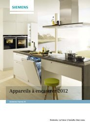 Appareils à encastrer 2012 - Siemens Home Appliances