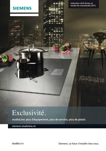 Voir le prospectus studioLine - Siemens Home Appliances