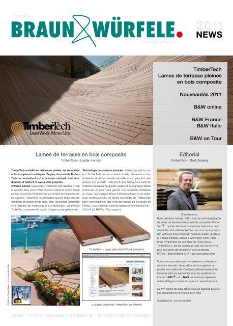 Lames De Terrasse En Bois Composite Editorial Paysalia 2011