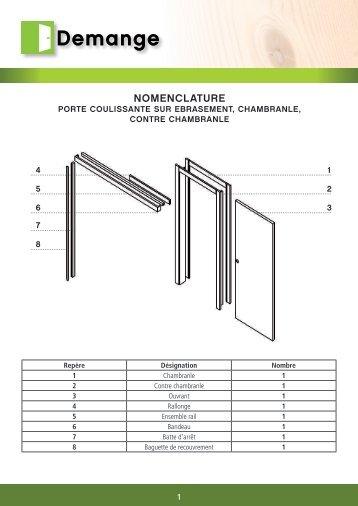 NOMENCLATURE - Portes Demange
