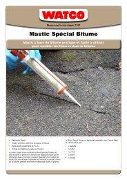 Mastic Spécial Bitume - Watco