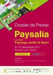 Dossier de Presse - Paysalia 2011