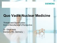 Quo Vadis Nuclear Medicine - Threats and Opportunities from a ...