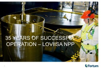 35 Years of Safe and Reliable Operation of Loviisa NPP