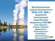 Дополнительная оценка безопасности (ДОБ) АЭС ЭДФ и ...