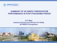 Results of Operation of Energoatom NAEC NPP in the post ...
