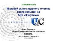Мировой рынок ядерного топлива - АтомЭкспо-2012