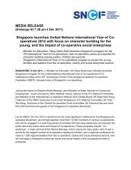 Media Release 4 Dec Singapore Launch of IYC - International Co ...