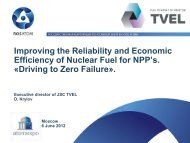 Improving the Reliability and Economic Efficiency of Nuclear Fuel for ...