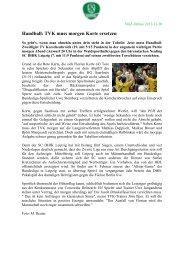 Handball: TVK muss morgen Korte ersetzen - SC DHfK Handball