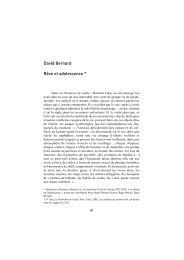 David Bernard Rêve et adolescence * - Ecole de Psychanalyse des ...