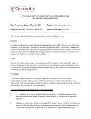 POLITIQUE D'INTERVENTION EN CAS DE DÉVERSEMENT DE ...