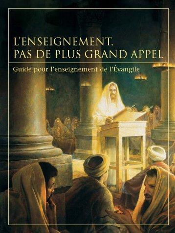 L'ENSEIGNEMENT, PAS DE PLUS GRAND APPEL